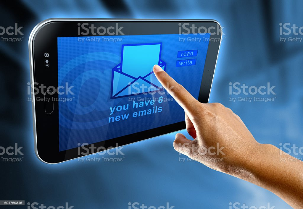 concept about internet and email stock photo