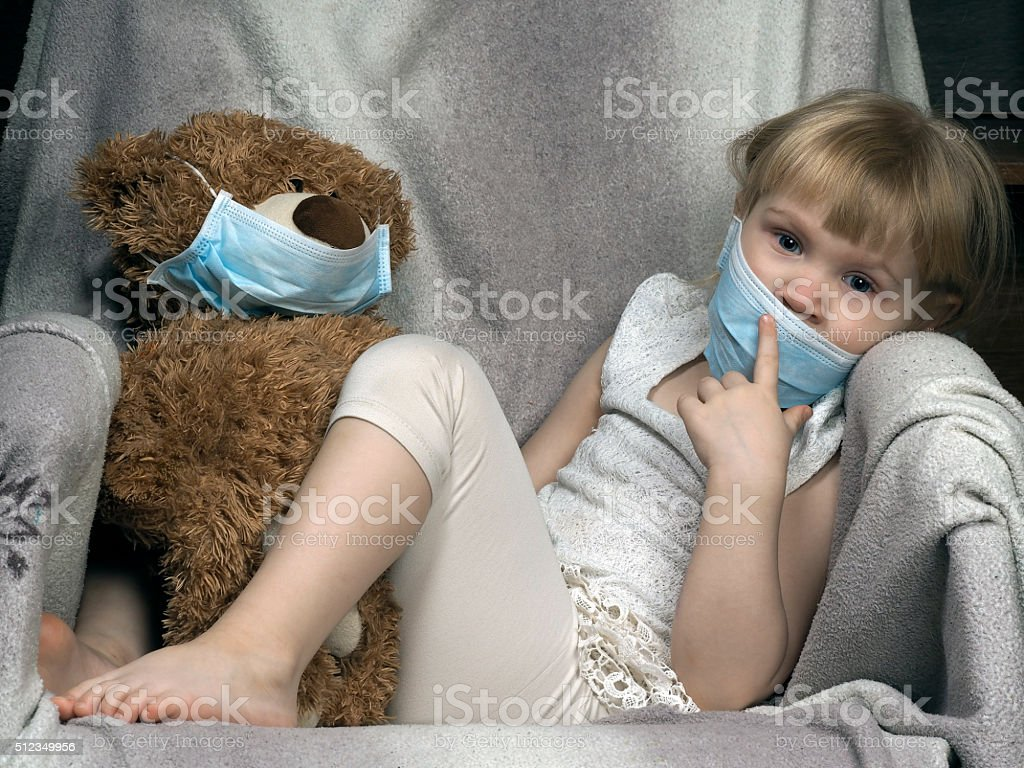 Concept - an allergy to dust, wool, asthma stock photo