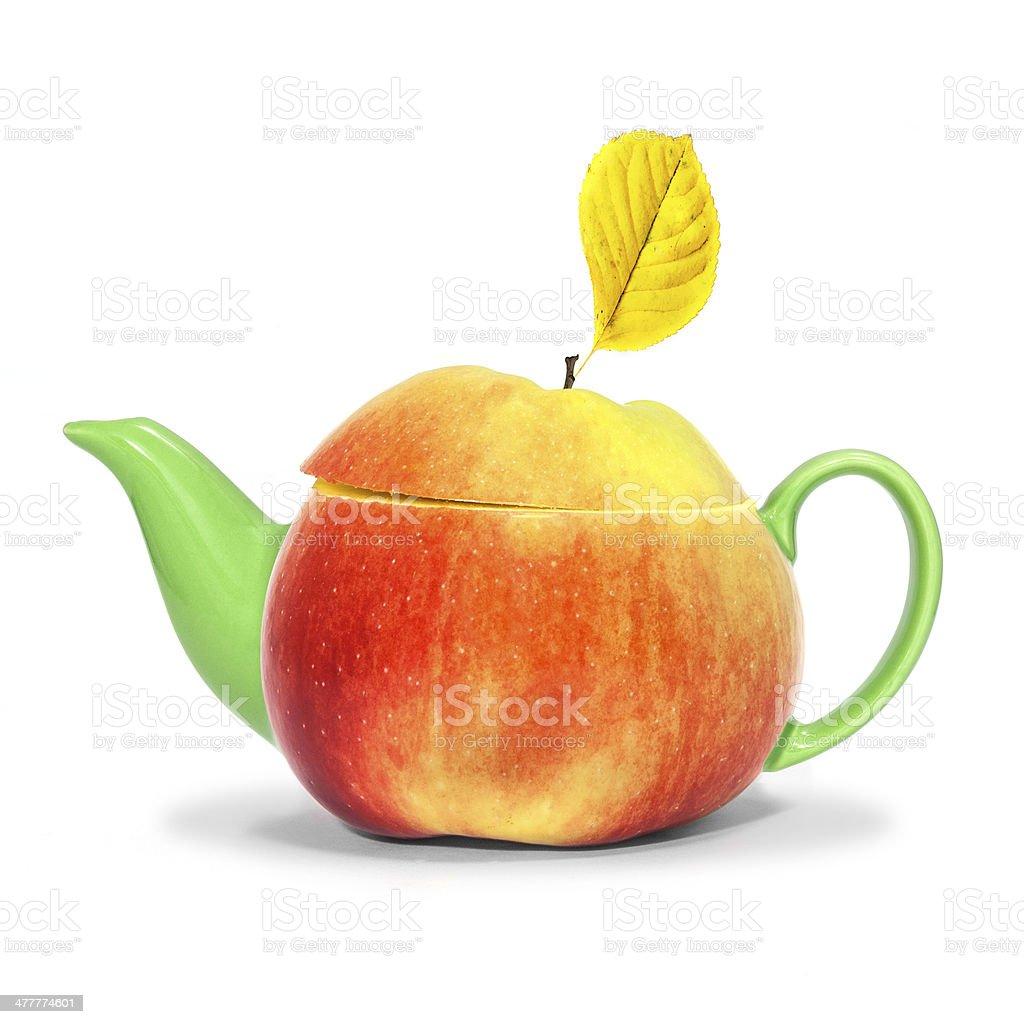 Concept apple teapot royalty-free stock photo