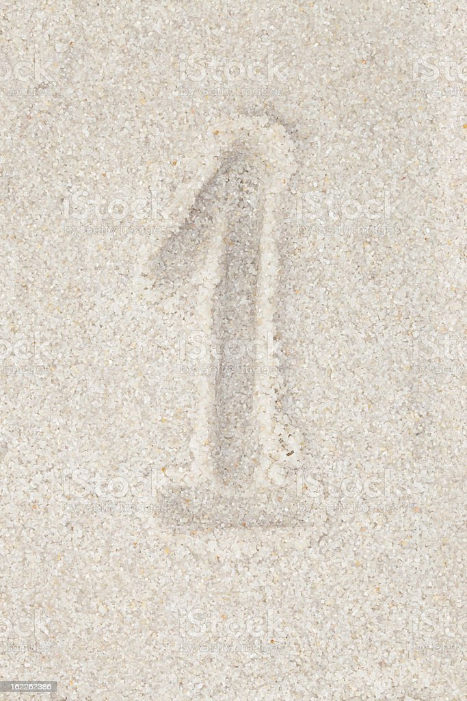 Concept backgrounds - Numbers on sand royalty-free stock photo