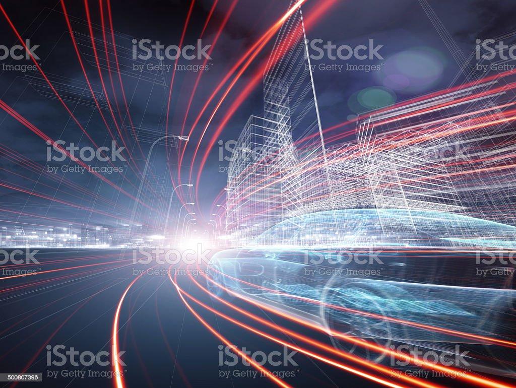 Concept Car stock photo