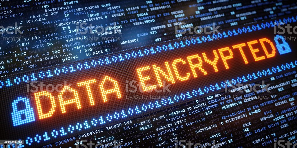 IT Concept Data Encrypted A01 stock photo