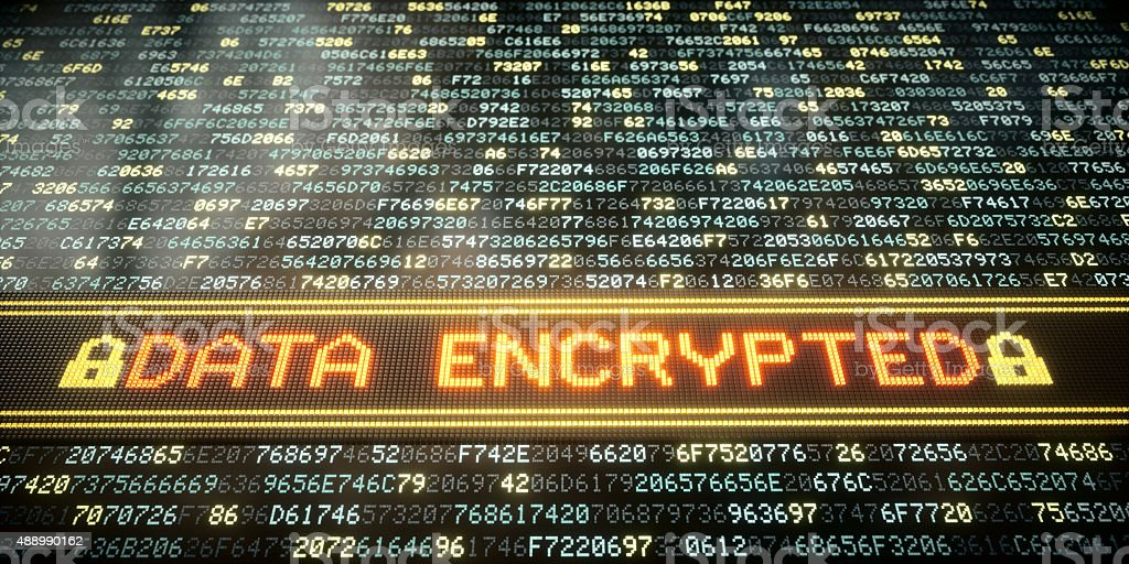 IT Concept Data Encrypted A02 stock photo