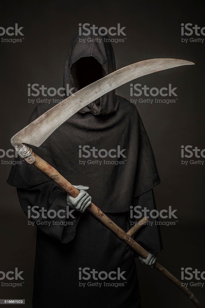 Concept: Death comes stock photo