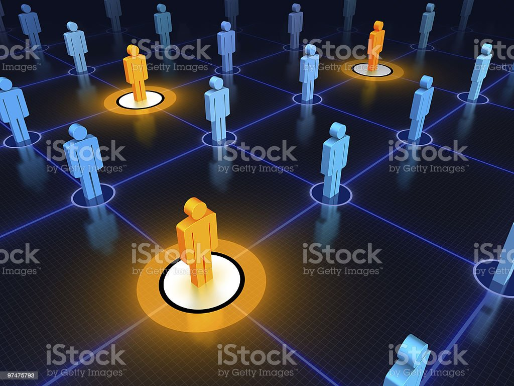 Concept design for networked leaders stock photo