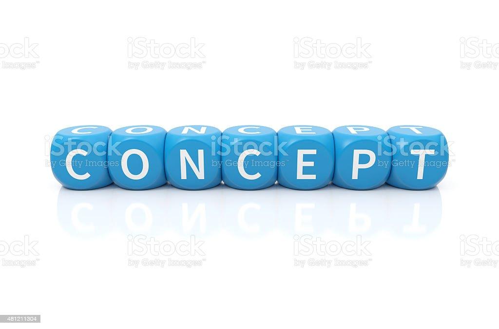 Concept dices blue stock photo