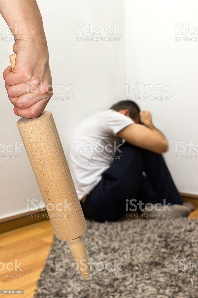 Concept domestic abuse stock photo