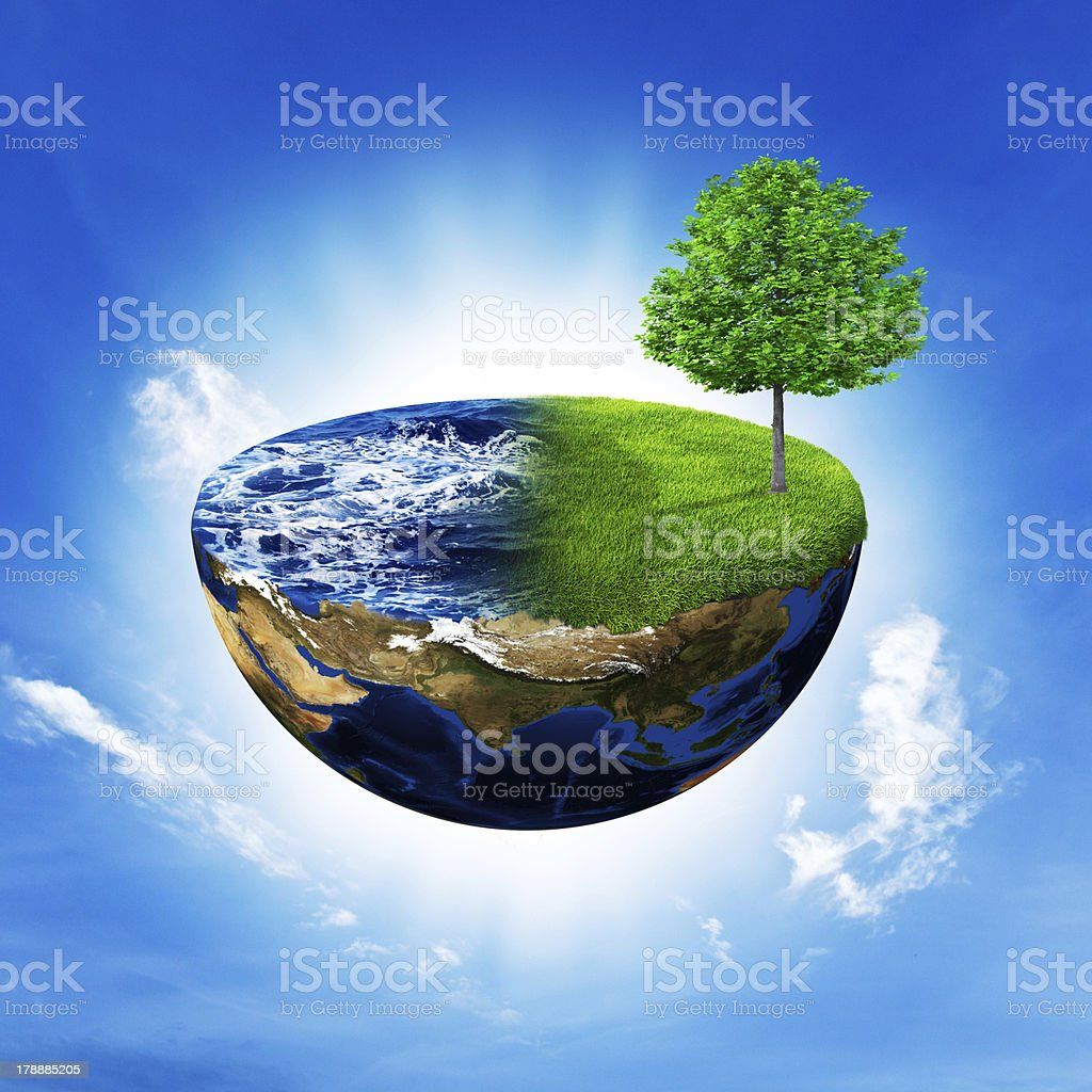 Concept floating island royalty-free stock photo
