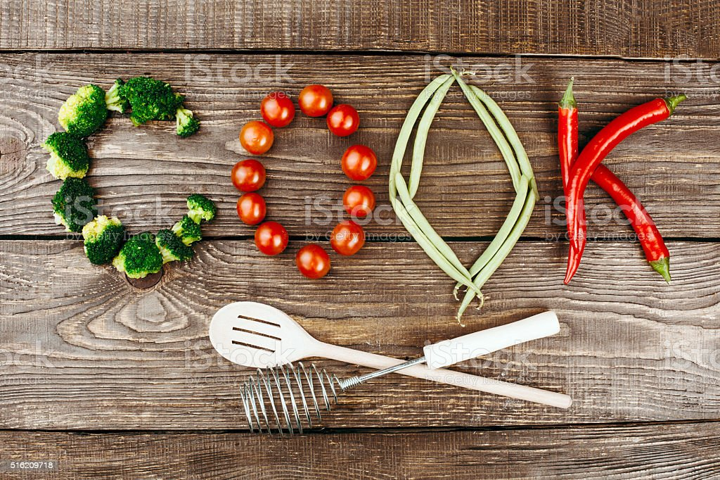 Concept for healthy and natural food stock photo