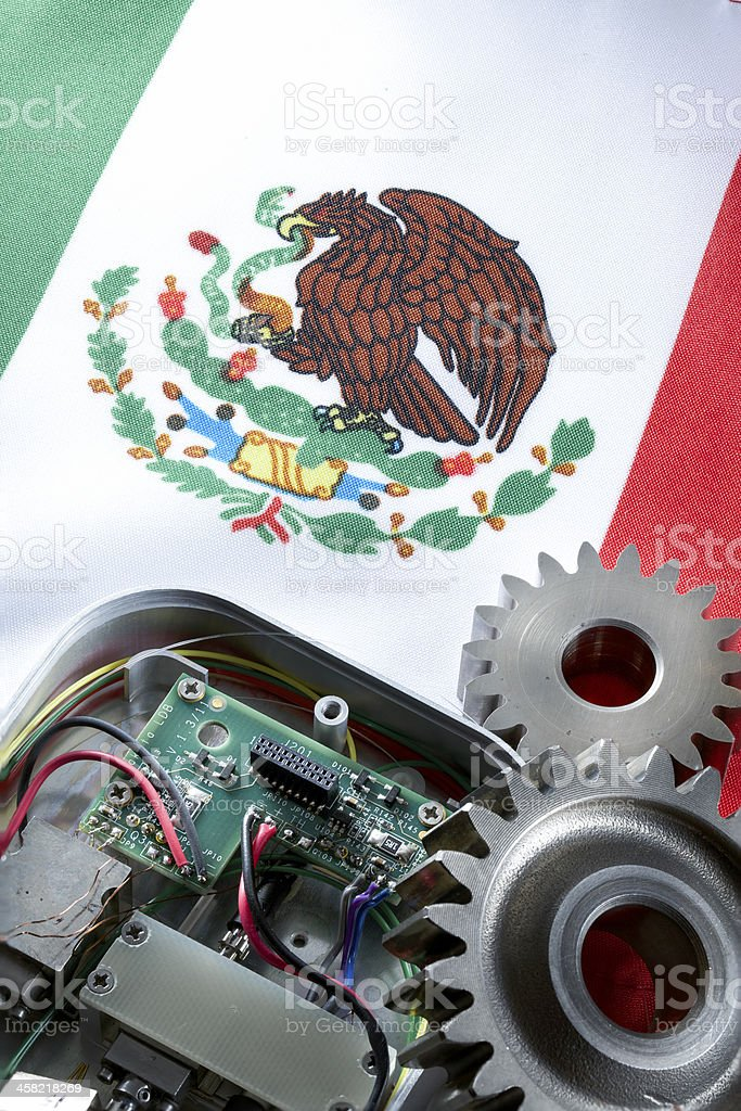 Concept for maquiladora stock photo