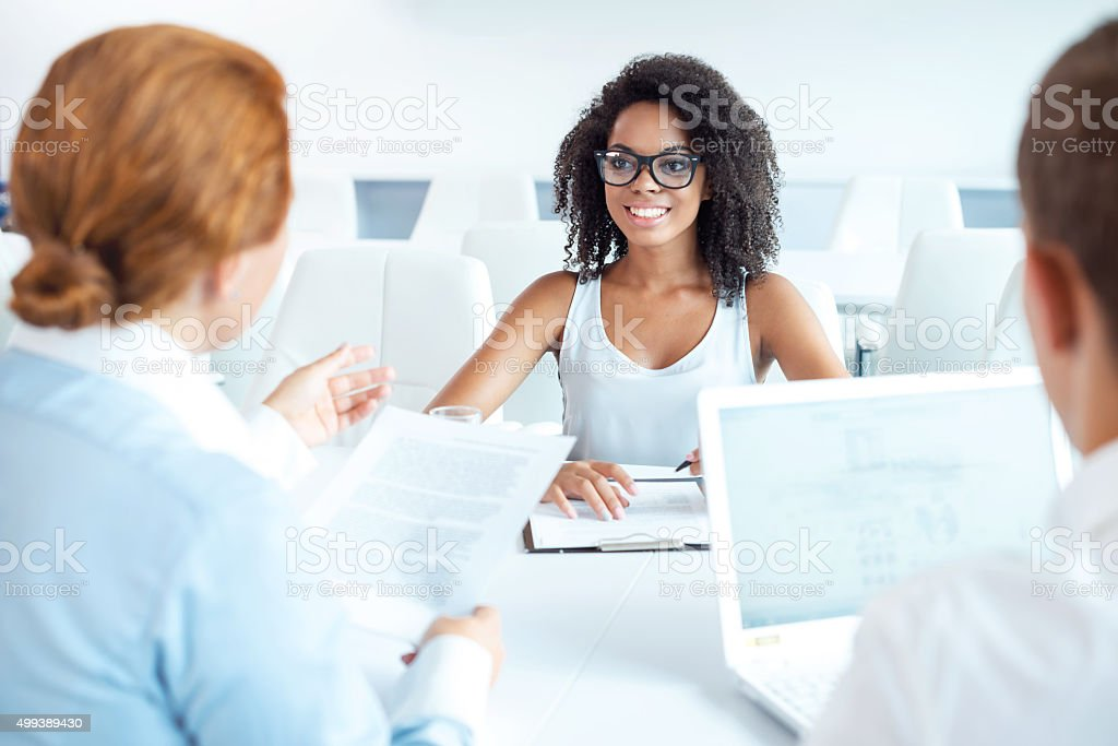 Concept for multi ethnic business team stock photo