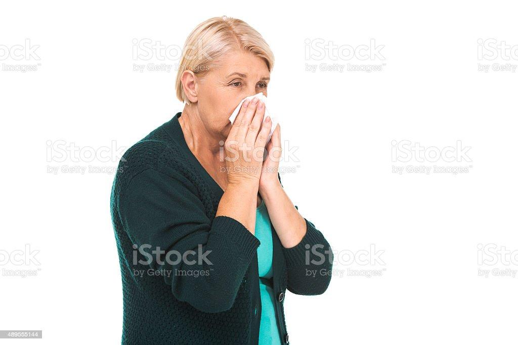 Concept for retired senior woman stock photo