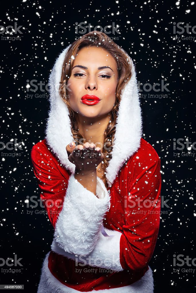 Concept for sexy santa girl stock photo