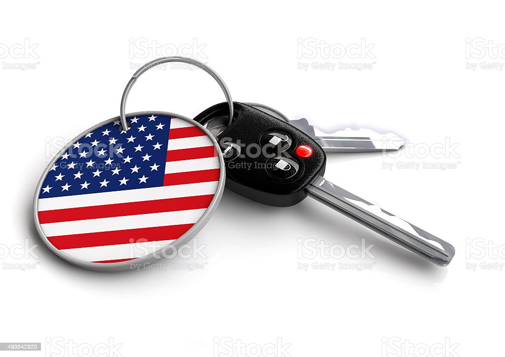 Concept for vehicles made in the United States. US vehicle stock photo