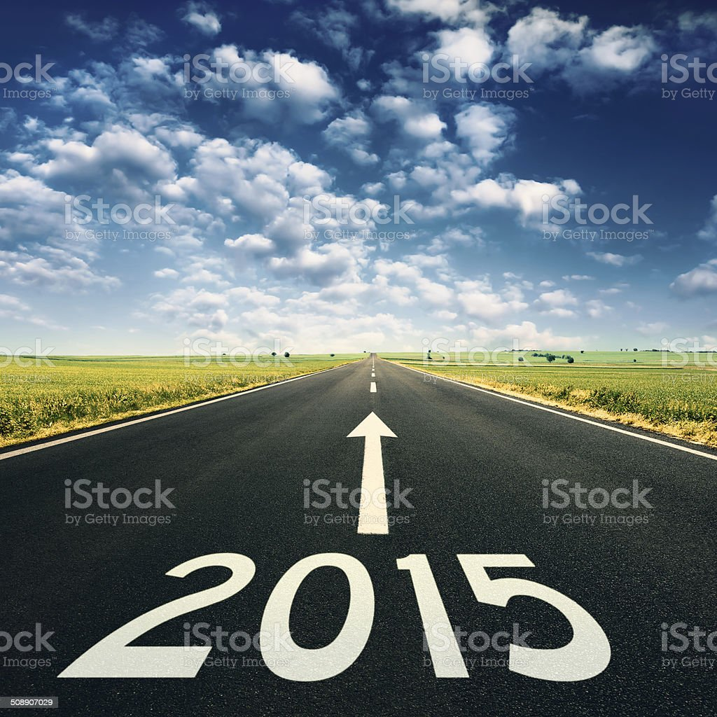 Concept - Forward to 2015 new year stock photo