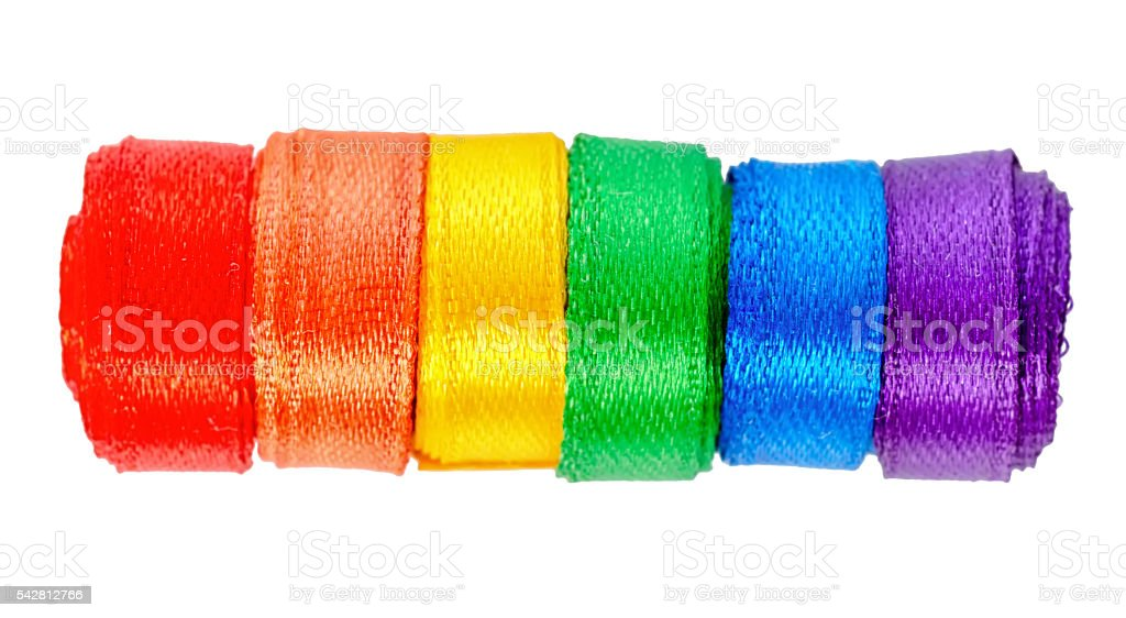 concept gay culture symbol with ribbons roll, sign  LGBT stock photo