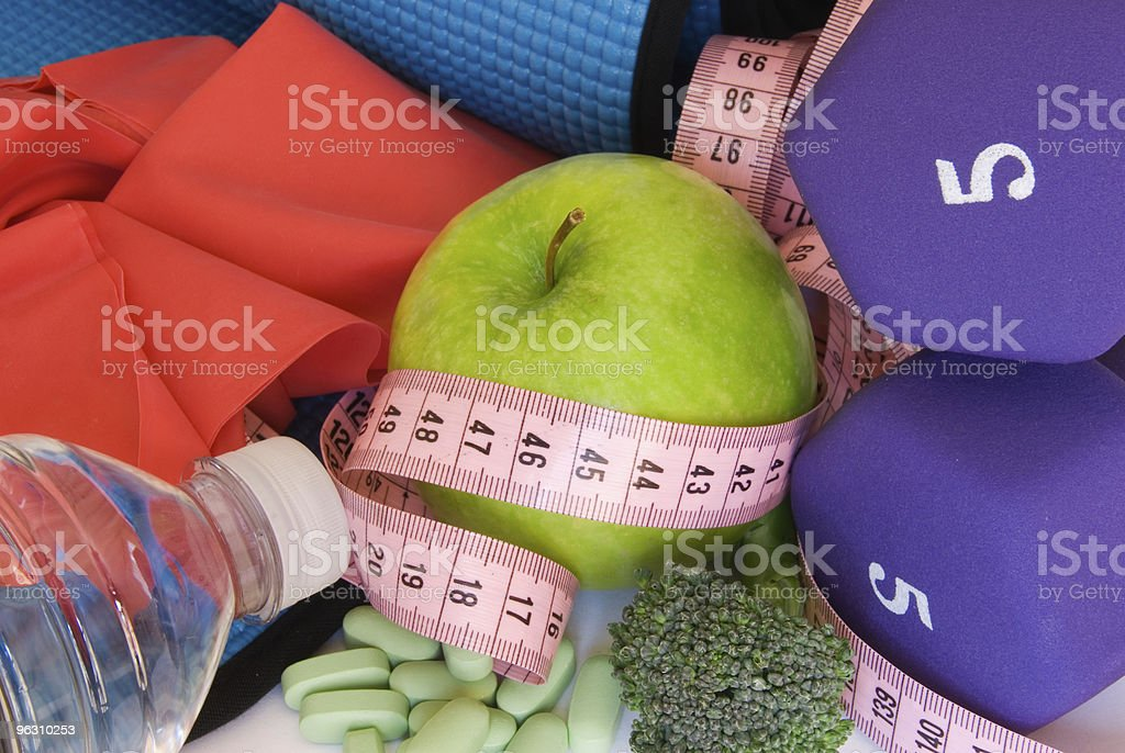 Concept: Healthy lifestyle  - Diet and Exercise royalty-free stock photo