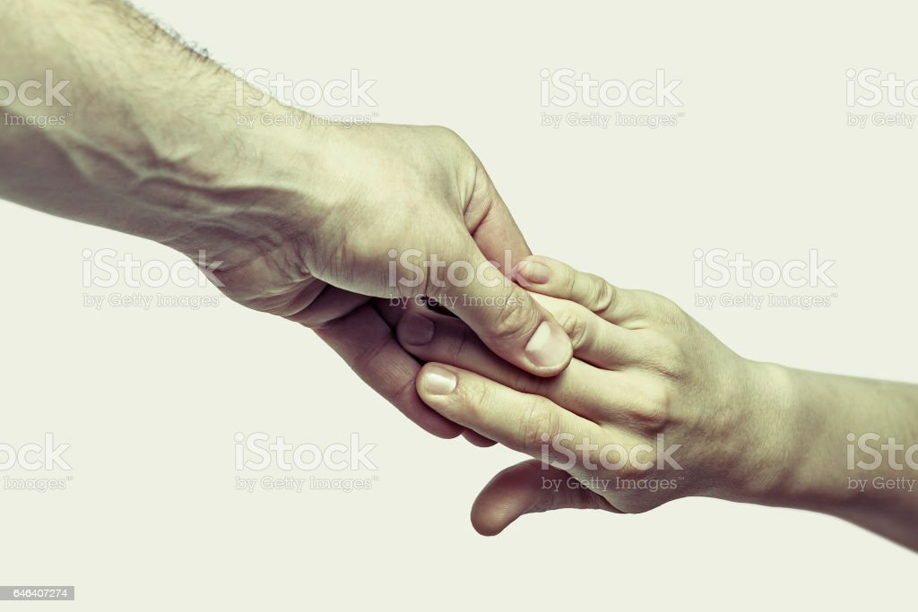 Concept 'helping each other' stock photo