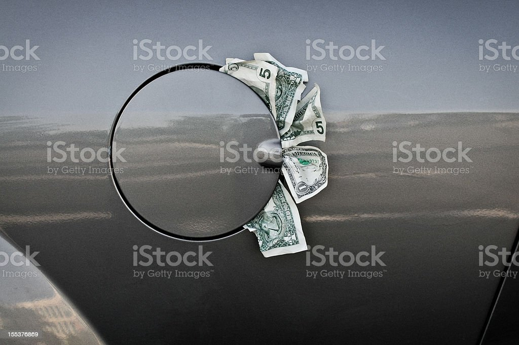 Concept High Gas Prices royalty-free stock photo