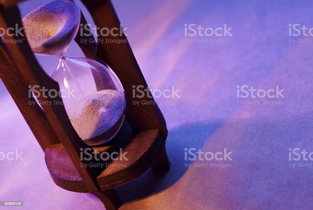 Concept Hour Glass royalty-free stock photo