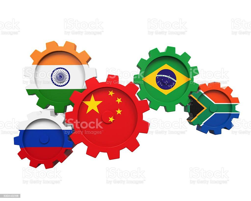 BRICS Concept Illustration stock photo