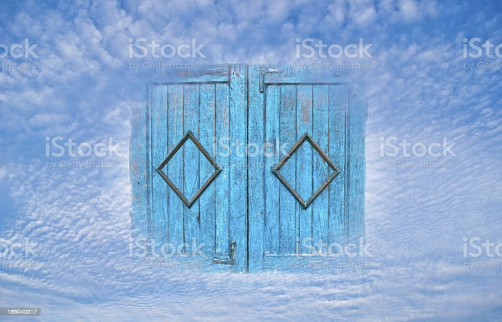 Concept image Independent thought - Window in sky royalty-free stock photo