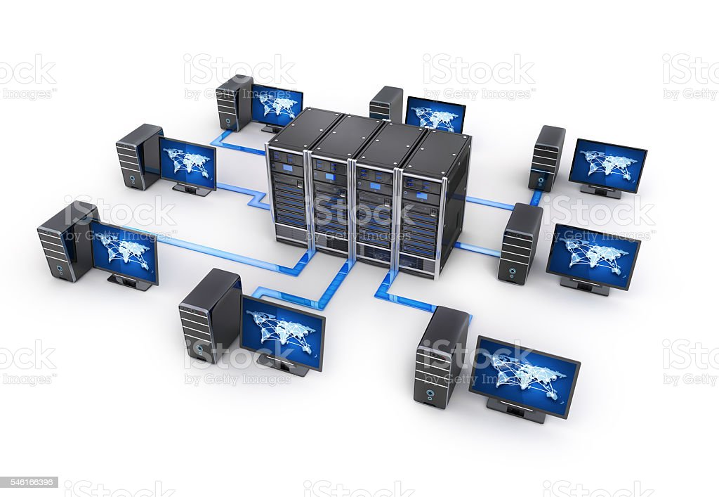 Concept internet on earth stock photo