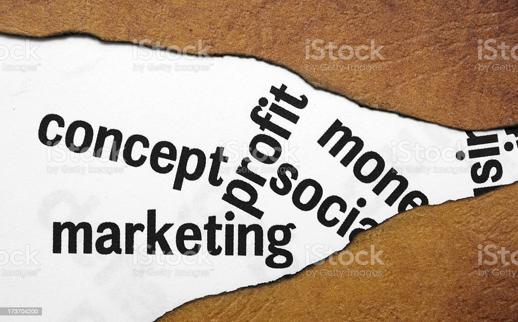 Concept marketing profit royalty-free stock photo