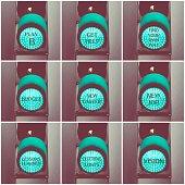 Concept messages written over green traffic lights