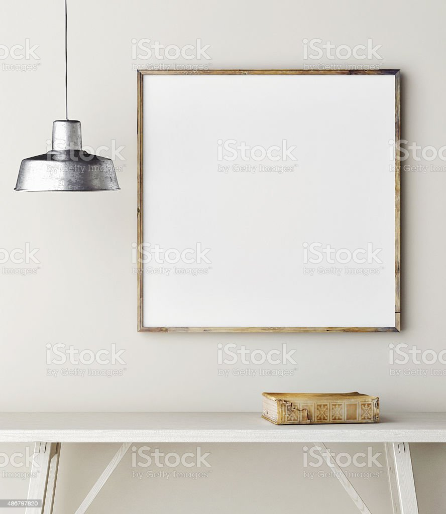 Concept mock up frame, minimalism design stock photo