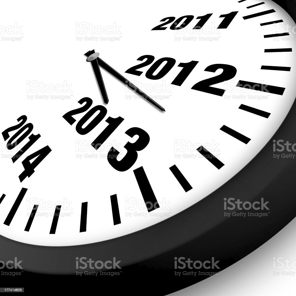 Concept New Year Clock royalty-free stock photo