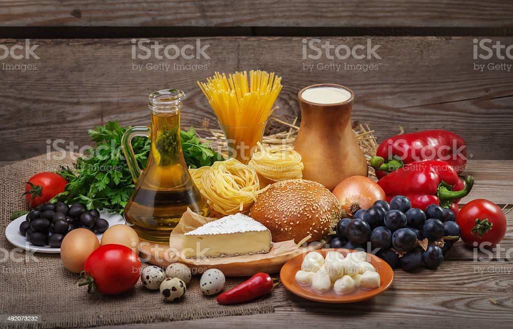 concept of a balanced diet stock photo