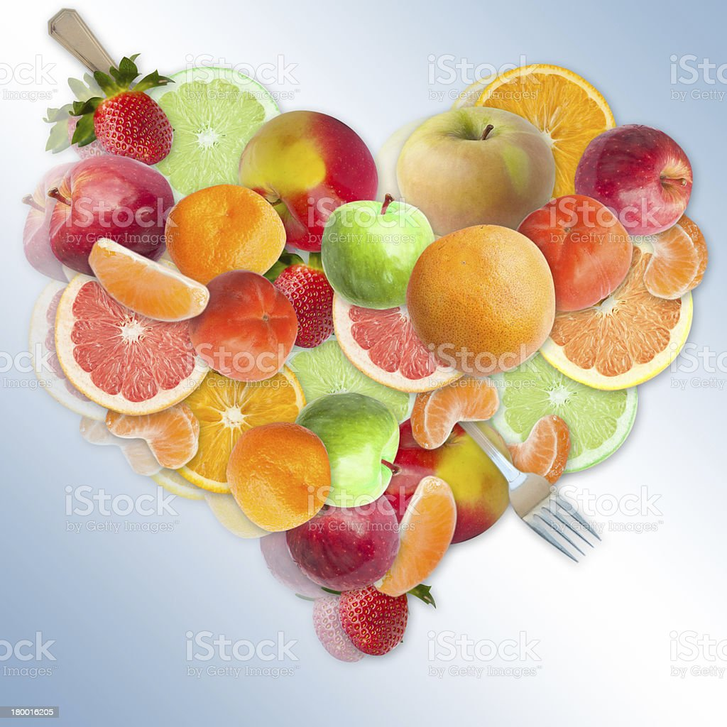 Concept of a fruit diet stock photo