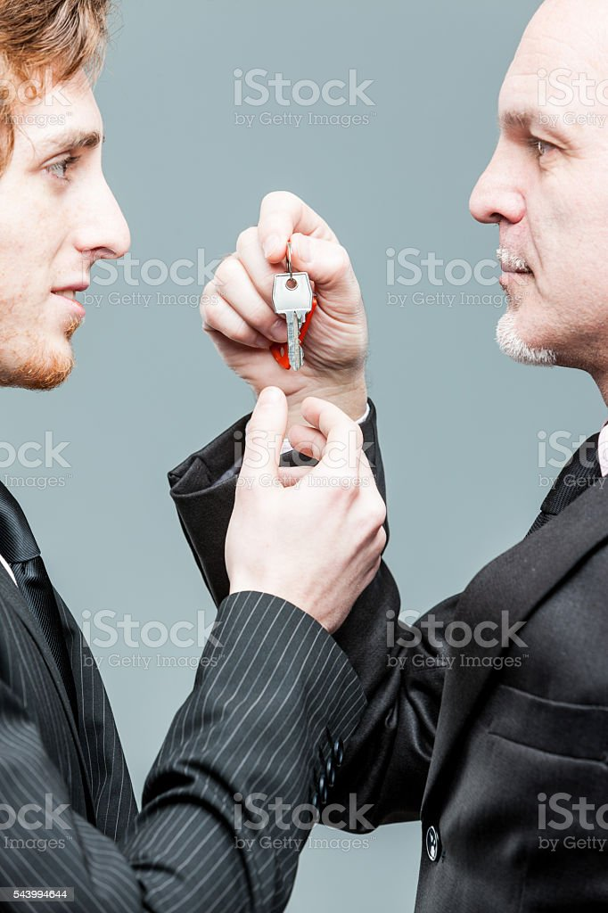 Concept of a generations business turnover stock photo