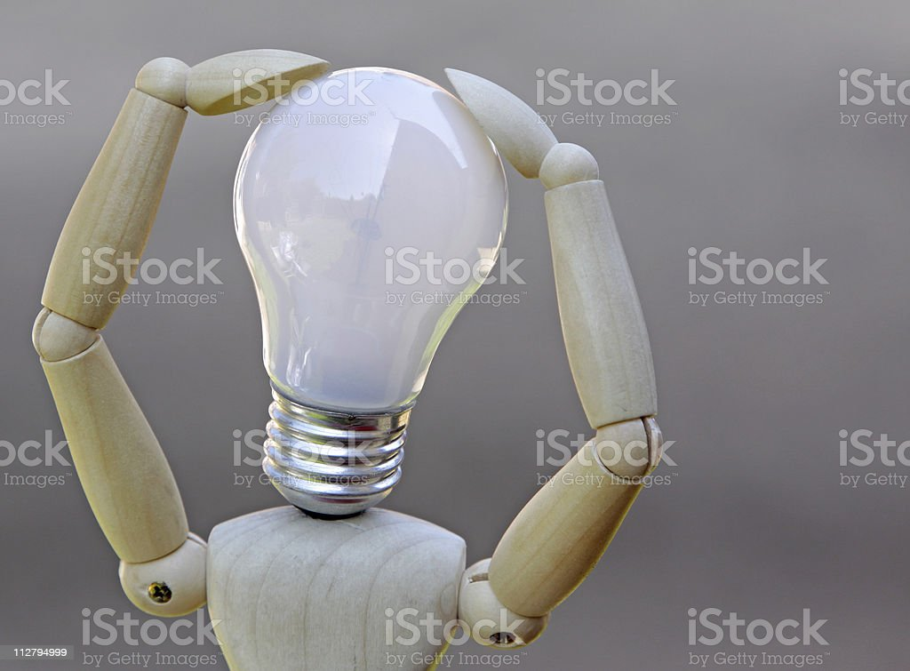 concept of a person thinking royalty-free stock photo