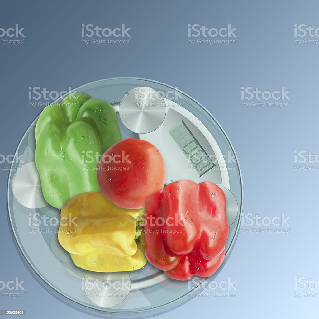 Concept of a vegetable diet. royalty-free stock photo