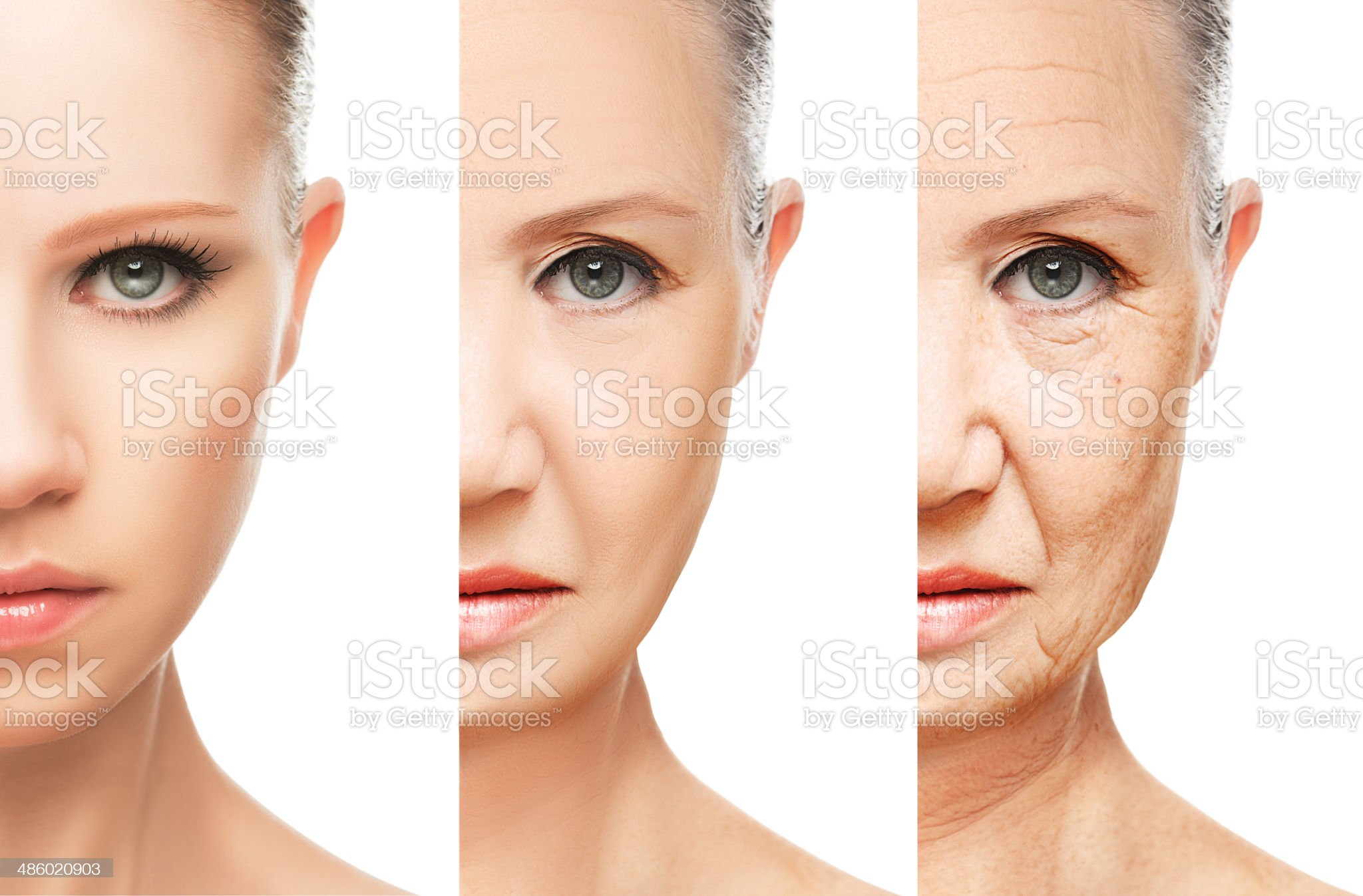 concept of aging and skin care isolated royalty-free stock photo