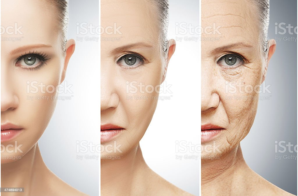 concept of aging and skin care royalty-free stock photo
