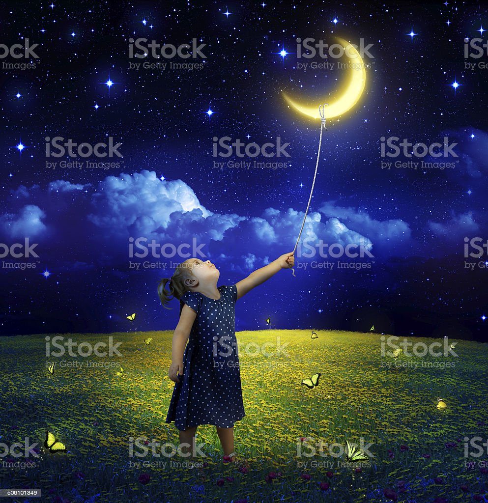 concept of ambition and dreams realization stock photo
