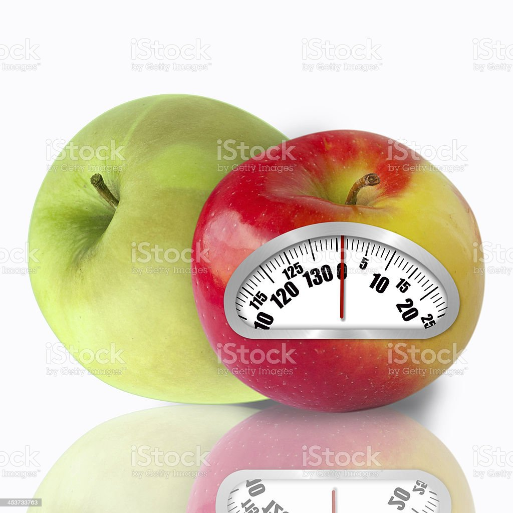 Concept of an apple diet royalty-free stock photo