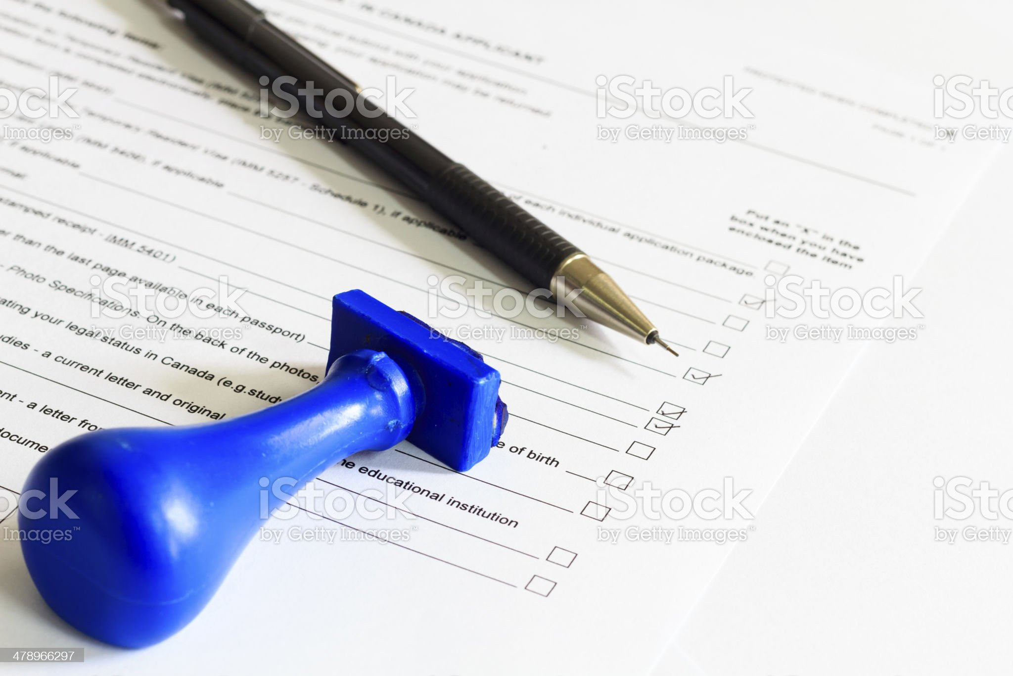 Concept of Audit Check list royalty-free stock photo