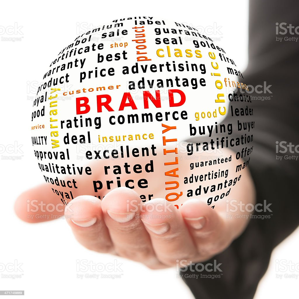 Concept of brand royalty-free stock photo