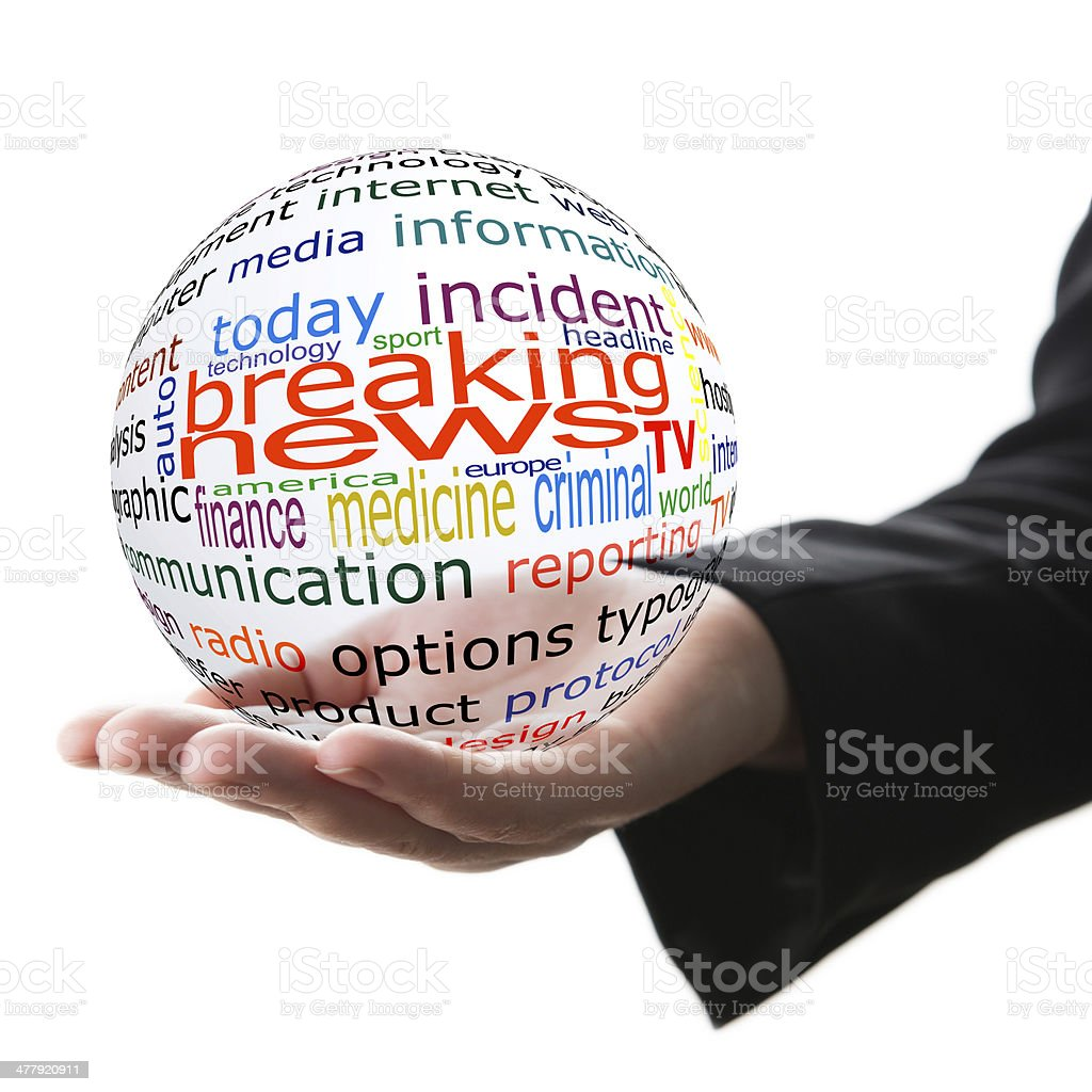 Concept of breaking news royalty-free stock photo