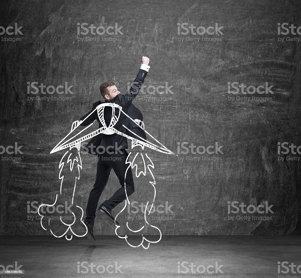 concept of business angel. stock photo