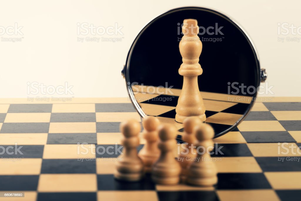 concept of business leadership teamwork power and belief stock photo
