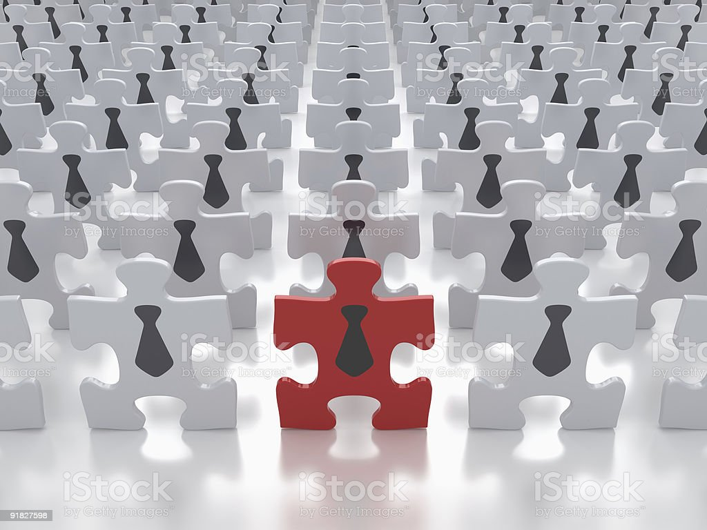 Concept of Business People Crowd stock photo