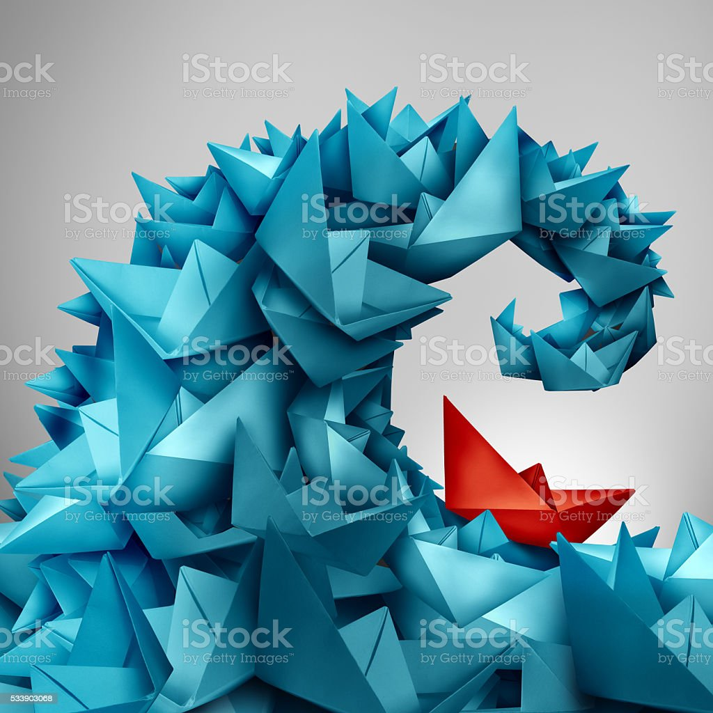 Concept Of Business Risk stock photo