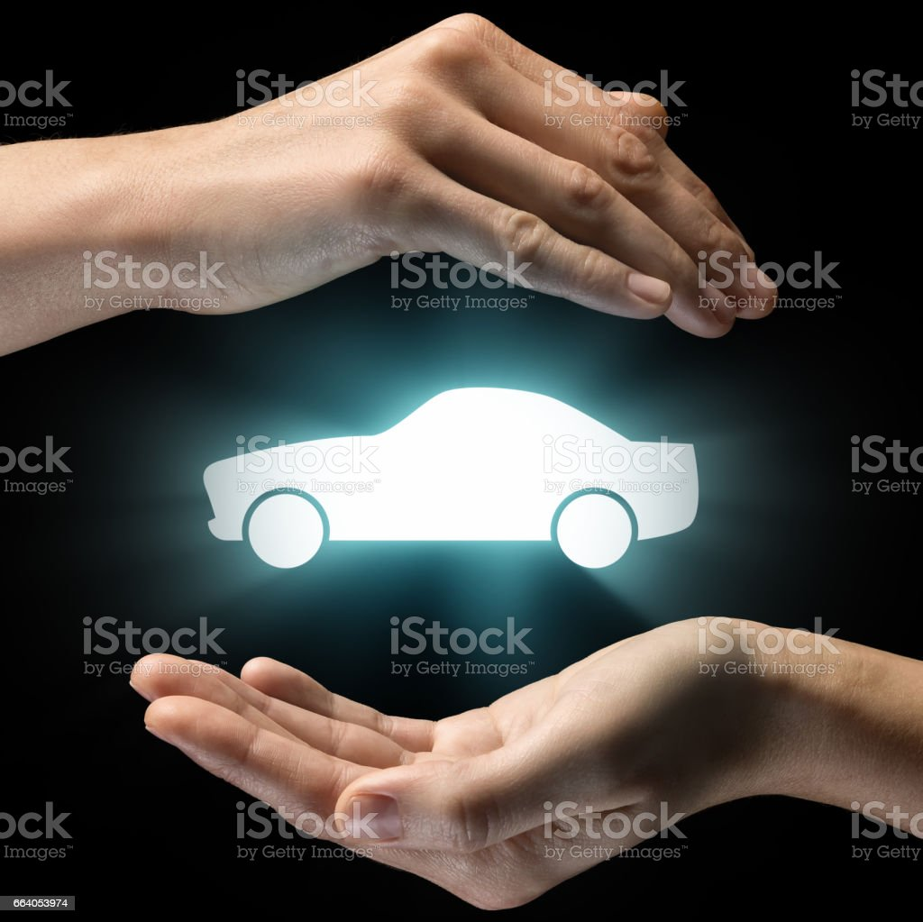Concept of car service, security, insurance. stock photo