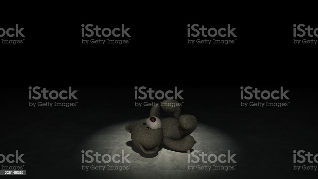 concept of child abuse stock photo