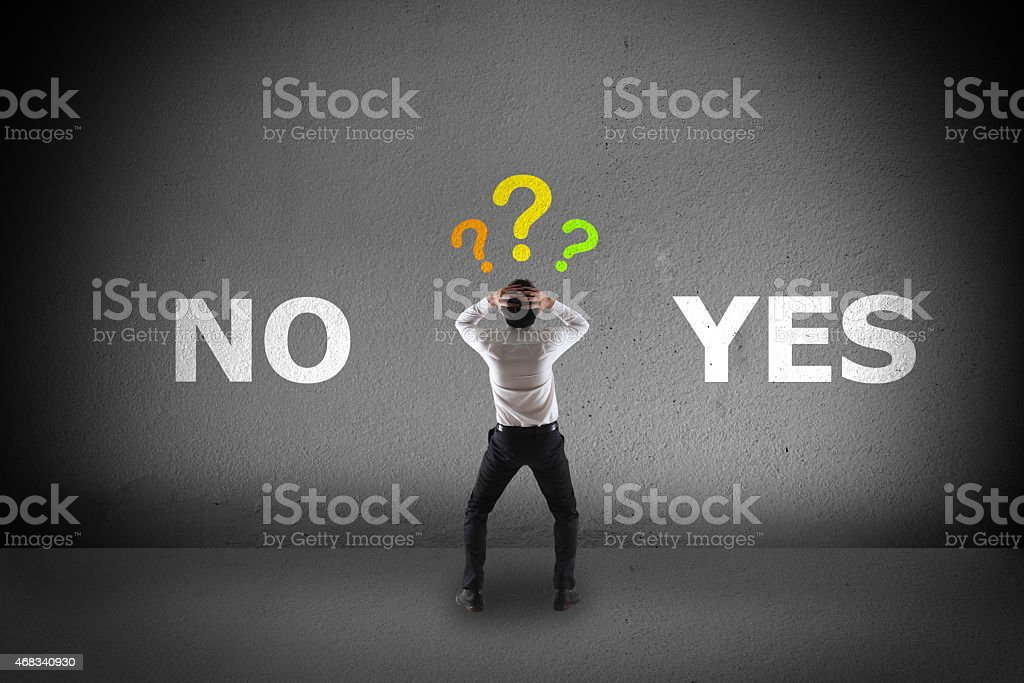 concept of choice stock photo